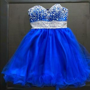 Royal blue party/graduation dress